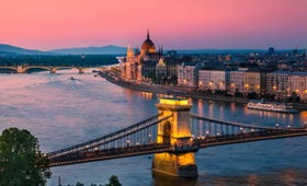 Budapest at sunset