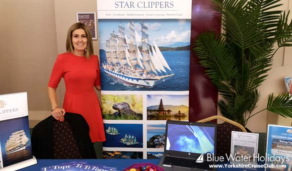 Alison at the Star Clippers stand