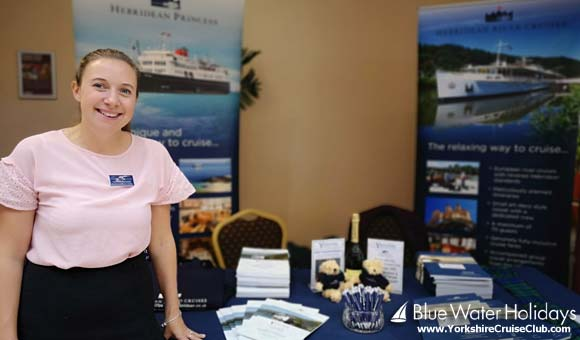 Hannah at the Hebridean Island Cruises stand