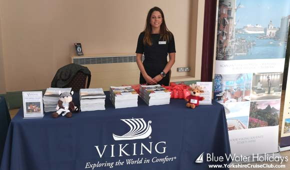 Jenny at the Viking Cruises stand