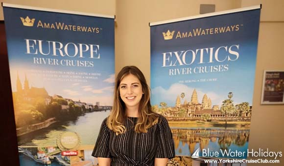 Joanne at the AmaWaterways stand