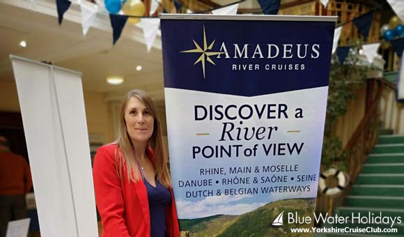 Natalie at the Amadeus River Cruises stand