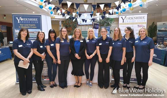 The team at the 2018 Yorkshire Cruise Show