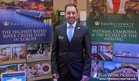 Jamie at the AmaWaterways' stand