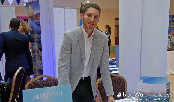 Nabil at the Ponant stand